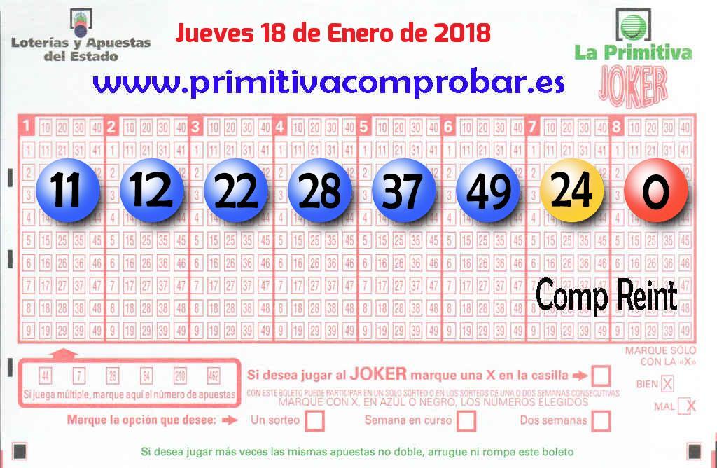 la primitiva 18 enero 2018
